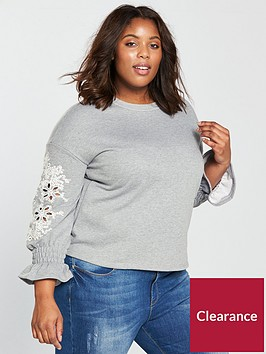 lost-ink-plus-sweat-with-broderie-sleeves-grey