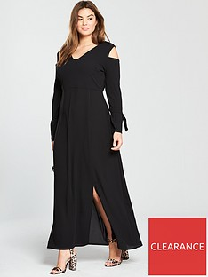 lost-ink-plus-maxi-dress-with-cold-shoulder-sleeve
