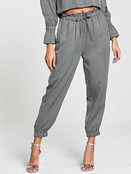 Native Youth Elasticated Cuff Pants - Grey