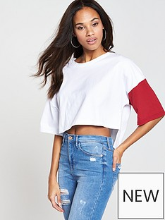 native-youth-colour-block-top-whitered
