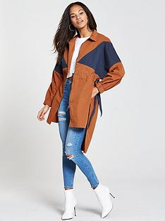 native-youth-colour-block-jacket-rust