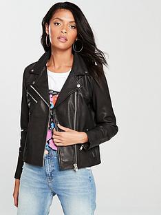samsoe-samsoe-tautounbspleather-biker-jacket-black