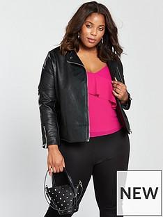 lost-ink-curve-biker-jacket-in-textured-pu-black