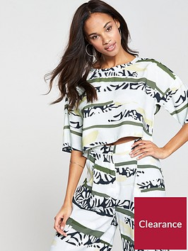native-youth-printed-wide-sleeve-crop-shirt