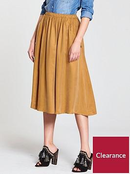 maison-scotch-midi-length-skirt-bronzed-sand