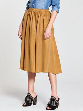 Maison Scotch Midi Length Skirt - Bronzed Sand