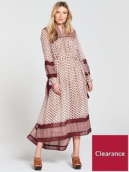 maison-scotch-boho-maxi-dress-with-piping-detailing