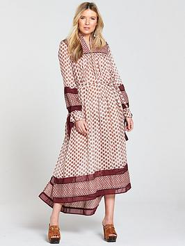 Maison Scotch Boho Maxi Dress With Piping Detailing