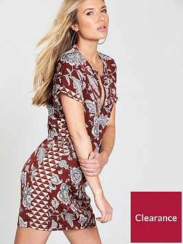 maison-scotch-short-sleeve-printed-dress
