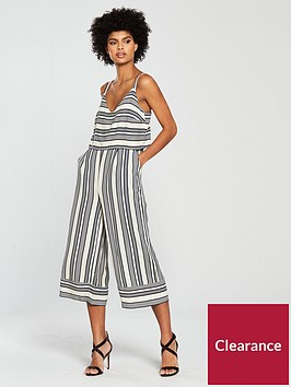 native-youth-stripe-tiered-jumpsuit-bluewhite