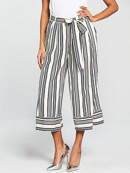 Native Youth Tie Waist Stripe Pants - Blue/White