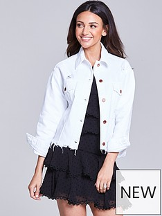 michelle-keegan-white-denim-jacket