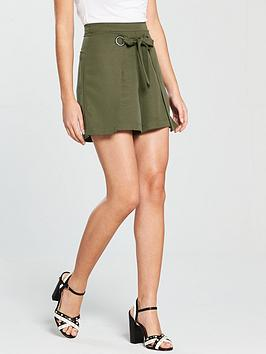 Native Youth Wrap Front Shorts - Olive