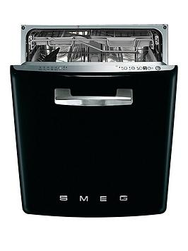 smeg-di6fabbl-60cm-50s-style-built-in-13-place-dishwasher-with-flexiduo-baskets-black