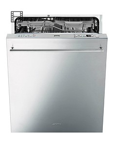 Smeg DI614PSS 60cm Fully Integrated 14-Place Dishwasher with FlexiDuo Baskets - Stainless Steel Best Price, Cheapest Prices
