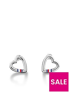 tommy-hilfiger-heart-logo-earrings