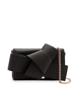 ted-baker-agentah-knot-bow-crossbody-bag-black