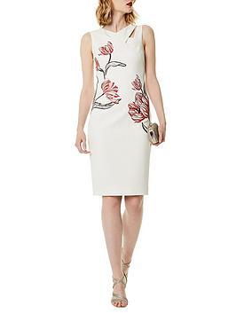 karen-millen-placed-tulip-embroidered-sleeveless-dress-cream