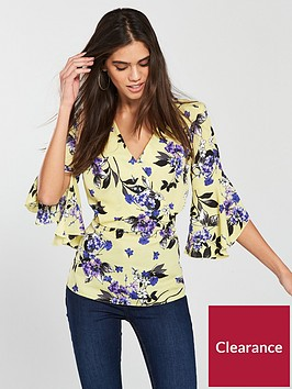 v-by-very-kimono-top-with-fluted-sleeve-yellownbsp
