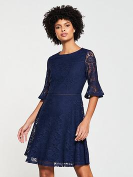v-by-very-lace-ladder-trim-jersey-dress-navy