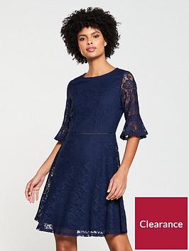 v-by-very-lace-ladder-trim-jersey-dress-navy