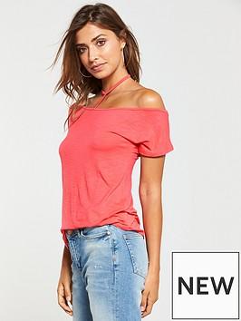 v-by-very-choker-boyfriend-t-shirt-coral