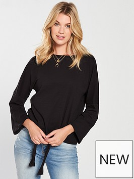 v-by-very-tie-front-t-shirt-black
