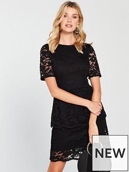 v-by-very-lace-tier-dress-black