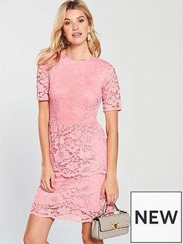 v-by-very-lace-tier-dress-blush