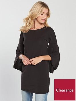 v-by-very-frill-cuff-cupro-tunic-black