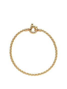 links-of-london-links-of-london-sterling-silver-18kt-yellow-gold-vermeil-belcher-bracelet