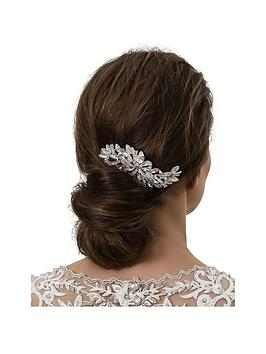 Jon Richard Crystal Ribbon Swirl Hair Comb