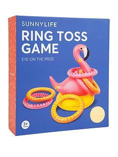 sunnylife-inflatable-ring-toss-flamingo