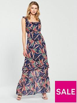 lost-ink-printed-ruffle-maxi-dress