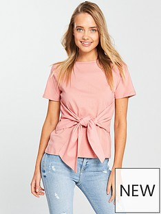 lost-ink-bow-front-t-shirt-pink