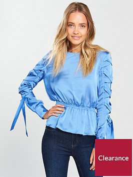 lost-ink-tie-detail-blouse-blue
