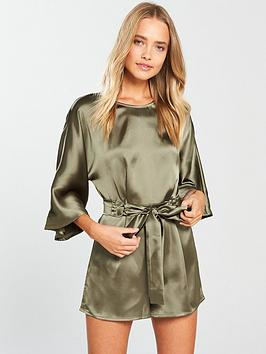lost-ink-belted-ring-playsuit-khaki