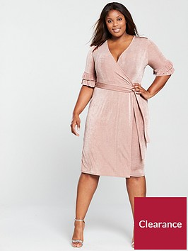 lost-ink-plus-slinky-wrap-dress-blushnbsp