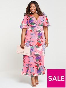 lost-ink-plus-kimono-maxi-dress-bright-floral-print
