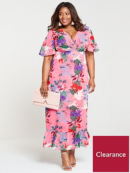 lost-ink-plus-kimono-maxi-dress-bright-floral-print