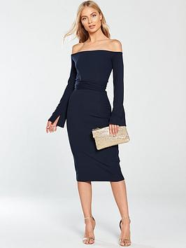 lost-ink-boat-neck-belted-bodycon-dress-navy