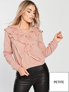 lost-ink-petite-ruffle-lace-jumper-pink