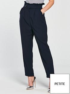 lost-ink-petite-pleat-detail-peg-trouser-navy