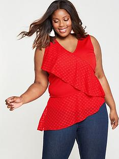 lost-ink-plus-top-with-dobby-ruffle-red