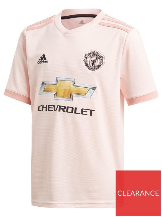 40136fafc7b adidas Manchester United Junior 18 19 Away Shirt - Pink