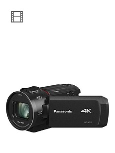 Panasonic HC-VX1 - 4K, 25mm Wide, 24x zoom, Leica Lens - Black