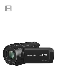 Panasonic HC-V800 - Full HD, 25mm Wide, 24x zoom, Leica Lens - Black