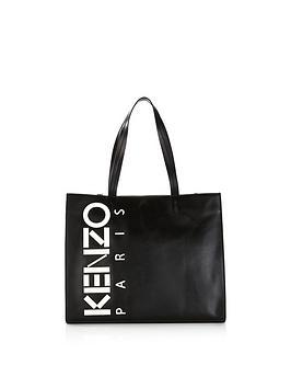 kenzo-vertical-logo-shopper-bag-black