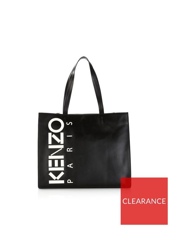 39dfcabb82 Kenzo Vertical Logo Shopper Bag - Black | very.co.uk
