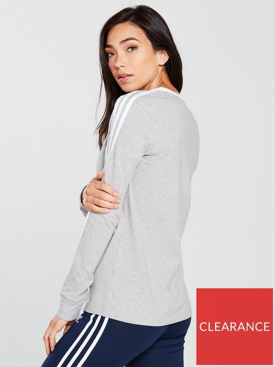 c6e4d81f5 adidas Originals 3 Stripes Long Sleeve Top - Medium Grey Heather ...